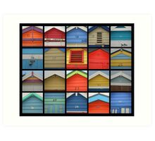 Bathing Boxes @ Brighton Art Print