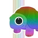Turtle - Rainbow Retro by Adamzworld