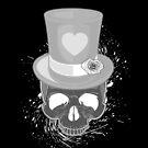 Pop Skull - Black & White by Adamzworld