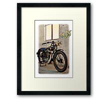 1927 Vintage A-J-S Motorcycle  Framed Print
