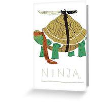 Real Ninja Turtle Greeting Card
