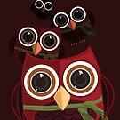 The Red Owl - Quadruple by Adamzworld