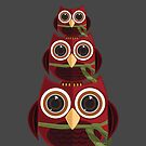 The Red Owl - Totem by Adamzworld
