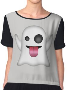 Ghost Emoji Chiffon Top