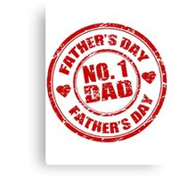 No 1 Dad - Father's Day Canvas Print