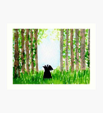 Scottie Dog 'Summer Meadow' Art Print