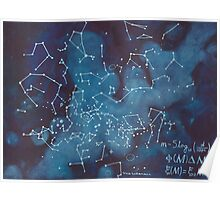 Astronomer's Constellation Star Map Poster
