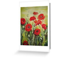 Poppies flowers Greeting Card