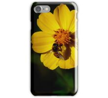 Flower & Bee; productive relationship. iPhone Case/Skin
