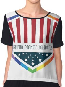 Freedom, Rights, Solidarity Chiffon Top