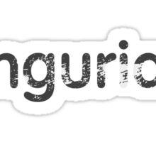 imgurian (worn out effect) Sticker