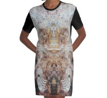 My Darkest Places Urban Grunge Abstract Graphic T-Shirt Dress