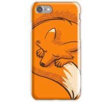 The fox is sleeping iPhone Case/Skin