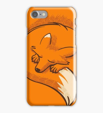 The fox is sleeping iPhone Case/Skin