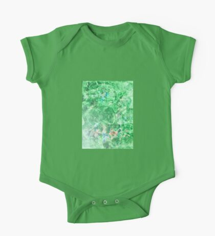 Green Brown and Blue Painting One Piece - Short Sleeve