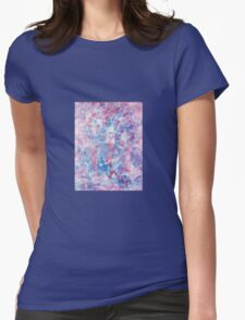 Red White and Blue Painting Womens Fitted T-Shirt