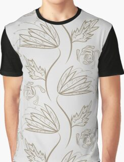 Seamless floral pattern on beige Graphic T-Shirt
