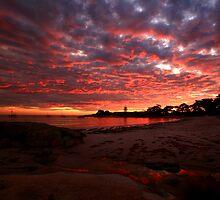 the next day, waubs bay. bicheno, tasmania by tim buckley | bodhiimages