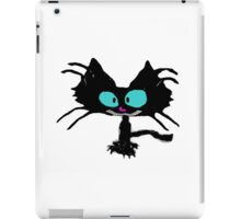 Black Cat Smiling  iPad Case/Skin