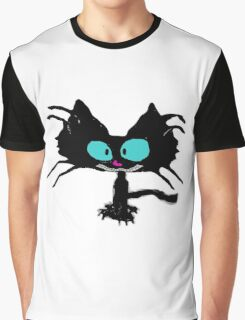 Black Cat Smiling  Graphic T-Shirt