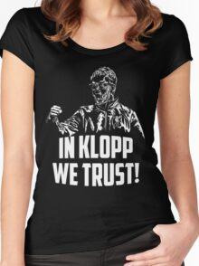 In Klopp we trust! Women's Fitted Scoop T-Shirt