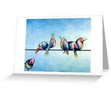 Finches On Parade - Excerpt One Greeting Card