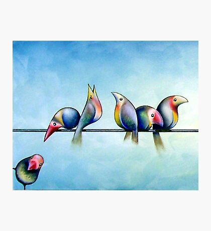 Finches On Parade - Excerpt One Photographic Print