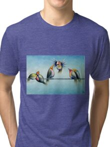 Finches On Parade - Excerpt Two Tri-blend T-Shirt