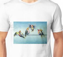 Finches On Parade - Excerpt Two Unisex T-Shirt