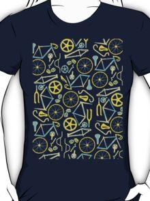 Bicycle Assembly Pattern (blu) T-Shirt