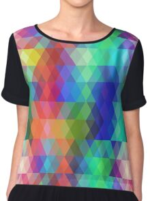 Abstract hipsters pattern with colored rhombus Chiffon Top