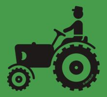 Farmer With Tractor by MrFaulbaum