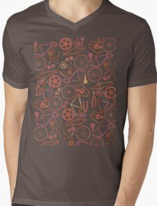 Bicycle Assembly Pattern (autumn) Mens V-Neck T-Shirt