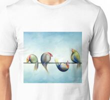 Finches On Parade - Excerpt Three Unisex T-Shirt