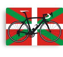 Bike Flag Basque (Big - Highlight) Canvas Print