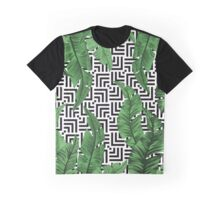 Tropical leaf pattern Graphic T-Shirt