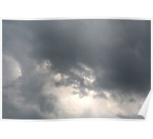 Fluffy stormy clouds. Poster