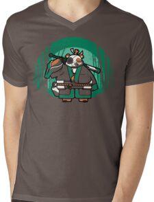 Samurai Panda Mens V-Neck T-Shirt