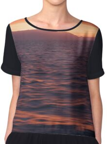 Macquarie Harbour Sunset Chiffon Top