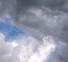 Fluffy stormy clouds. Sticker