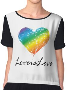 Pride - Love is Love Chiffon Top