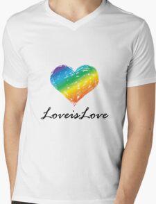 Pride - Love is Love Mens V-Neck T-Shirt