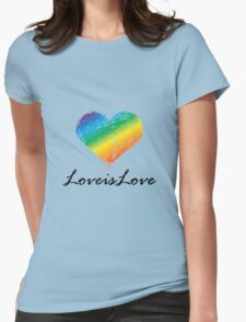 Pride - Love is Love Womens Fitted T-Shirt