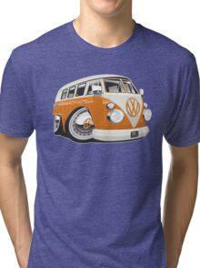 VW T1 bus caricature orange Tri-blend T-Shirt