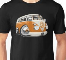 VW T1 bus caricature orange Unisex T-Shirt