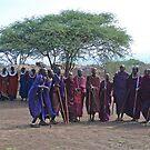 Maasai Village Welcome, Tanzania by Adrian Paul