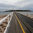Tramline to Granite Island, victor harbour, South australia. by kaysharp