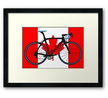 Bike Flag Canada (Big - Highlight) Framed Print