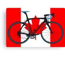 Bike Flag Canada (Big - Highlight) Canvas Print