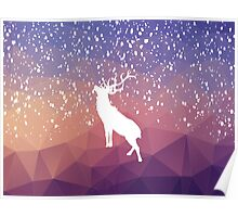 Oh Deer Purple Mountains Poster